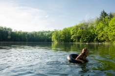 Swimming and smiles, Northern Michigan