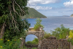 Ruins near Waterlemon Cay; quick hike up from the bay below